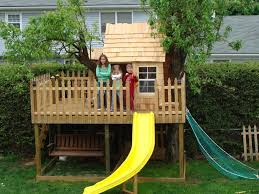 Delighful Simple Kids Tree Houses House Ideas Landscaping Garden Treehouse Inside Inspiration Decorating