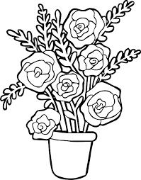 Vaso Di Rose Disegni Da Colorare Disegni Da Colorare Categoria