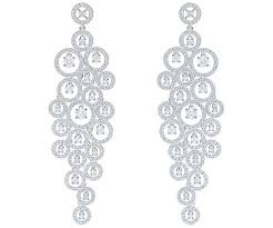 swarovski swarovski creativity chandelier pierced earrings white rhodium plating white rhodium plated