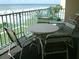 condo outdoor furniture dining table balcony. Gulf Shores Condo Rental - Table And 4 Chairs Plus Lounger On Balcony Outdoor Furniture Dining E