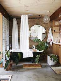 Bathroom: Awesome Bathroom With Brick Walls And Plant Ideas - 19 ...
