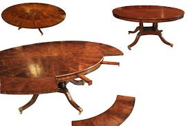 round dining table. Traditional Round Mahogany Dining Table With Leaves