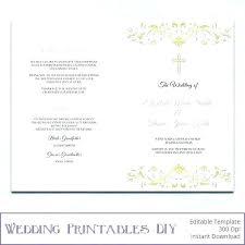 Wedding Ceremony Brochure Catholic Church Wedding Booklet Template