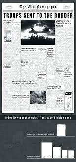 Fake Newspaper Template Word Blank Newspaper Template Word Online Headline Jaxos Co