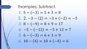 Integers Examples Integers Addition And Subtraction
