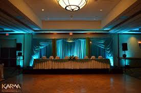 hilton phoenix mesa turquoise indian wedding lighting custom beautiful color table uplighting