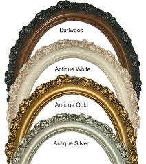 oval photo frames oval picture frames 16x20 classic oval frame with burlwood antique