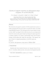 Stripe Templates Pdf Growth Of Magnetic Nanowires On Self Organized Stripe Templates