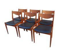 søren ladefoged set of 6 simple and clic danish teak dining chair sl mobler dining chairs 1960 s danish teak set of 6 mid century retro vine