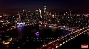 New York City Skyline at Night HD 4K ...