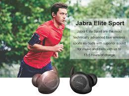<b>Jabra Elite Sport</b> True Wireless Bluetooth Earphone Black Advanced ...