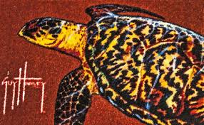 guy harvey sea turtle accent rug 29 x 18 novelty rugs by michael anthony furniture
