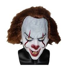pennywise the dancing clown bob gray mask it horror helmet latex image is loading pennywise the dancing clown bob gray mask it