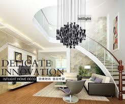 large modern chandelier lighting. Hybrid-type Stair Large Chandelier Modern Glass Pendant Light Fashion Brief Lighting Fixture Dining Room T