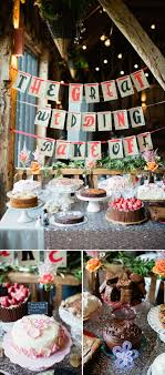 DIY Wedding Dessert Table Cake Competition Bakeoff. I think this is a cute  idea!