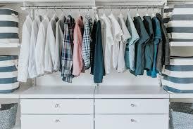 making one closet work for three