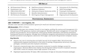 Hr Resume Samples Generalist Objective Examples Mba Format For