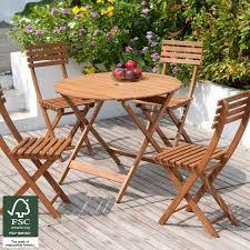 folding patio furniture set. garden patio furniture set 4 seater acacia wood dining table chairs outdoor fold folding