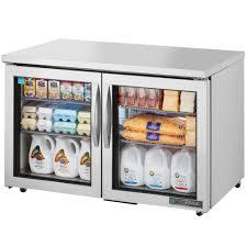Undercounter Beverage Refrigerator Glass Door True Tuc 48g Ada Ld 48 Ada Height Undercounter Refrigerator With