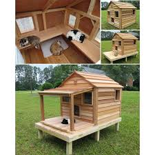 outdoor cat house plans. Diy Outdoor Cat House Cool Cedar Cottage Outdooroutdoor Shelter Diyoutside Heated . Plans P