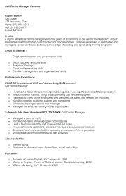 Call Center Resume Template Kierralewis Com