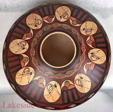 indian hopi pottery vase by stetson setalla