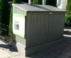 wooden outdoor trash can cabinet garbage storage super design ideas tilt out bin