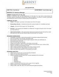 Headtress Job Description Resumeter Example Cocktail Bartender