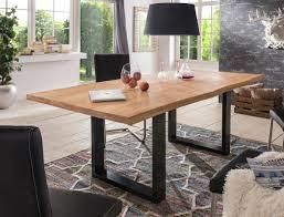 Esstisch Bosse Wildeiche Geölt Schwarz Varianten Massivholztisch Tisch