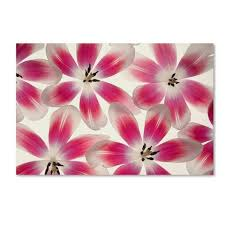 trademark global cora niele ruby red and white tulips unframed wall canvas art on white flower wall art target with trademark global cora niele ruby red and white tulips unframed