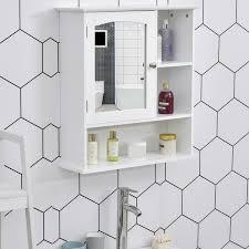kleankin wall mount mirror cabinet