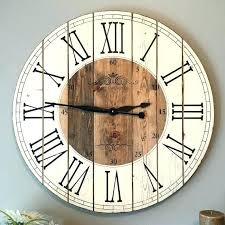 diy wood clocks large wall clock inch farmhouse clock rustic wall clock large wall clock unique diy wood clocks