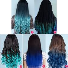 top 5 blue ombre human hair clip in hair extensions