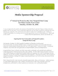 Media Sponsorship Proposal How To Create A Media