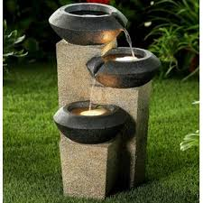 Small Garden Fountains Solar  Home Outdoor DecorationSolar Water Features With Lights