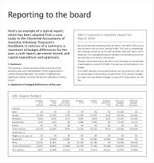 Board Report Template Word Business Meeting Report Template Format Free Board Meeting