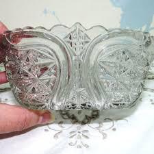 large glass sugar bowl sugar lump bowl gfruit dish bowl pressed glass