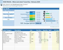 vacation expense calculator excel travel budget calculator estimate your travel cost