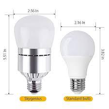 dusk to dawn led bulb 12w e26 socket 6000k cold white light sensor light with