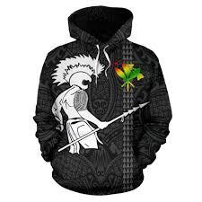 Hawaiian Warrior Tattoo Hoodie Ah J1 Amazing Hoodie