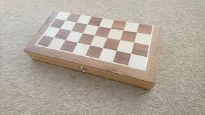 Wooden Games Compendium Wooden Games Compendium Chess Set Draughts Backgammon in 77