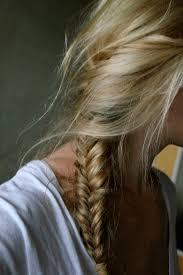 Braids Hairstyles Tumblr I Love Messy Fishtails Locks Pinterest Blonde Braids