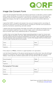 Image Use Consent Form - Visioning The Outdoors
