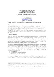 Open Channel Design L10 Handout Open Channel Flow Further Materials Agps301p1