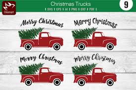 Old truck with tree ornament. Christmas Truck With Pine Tree Graphic By Gleenart Graphic Design Creative Fabrica