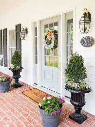 farmhouse style front doorsA New Front Door And A Spring Farmhouse Front Entry  Worthing Court