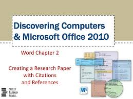 Ppt Word Chapter 2 Creating A Research Paper With Citations And