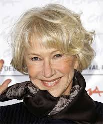 wavy bob with bangs for women over 70