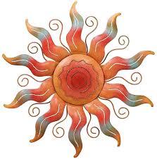 southwestern spiral sun metal wall art moon outdoor