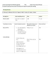 School Team Meeting Agenda Template Department Middle High 5